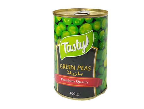 CANNED GREEN PEAS 400 GM TINS